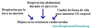 Mejora en la resistencia cardiovascular