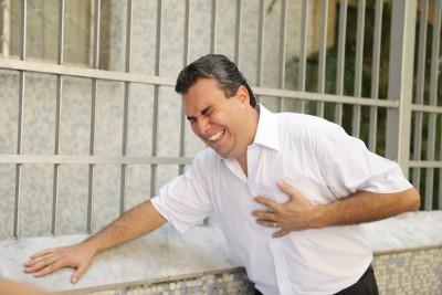 Hombre con angina