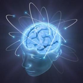Cerebro con señales eléctricas